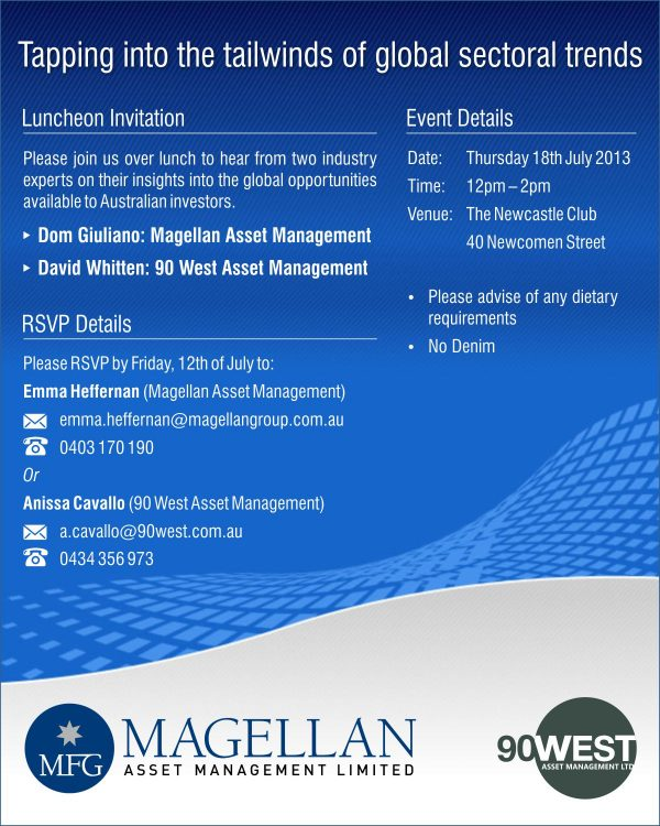 90 West Magellan Invitation