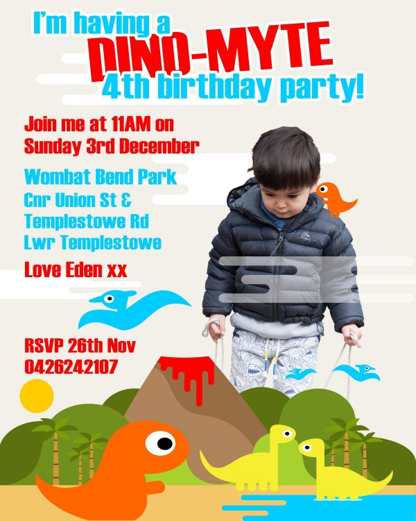 Eden's 4th Birthday Invitation