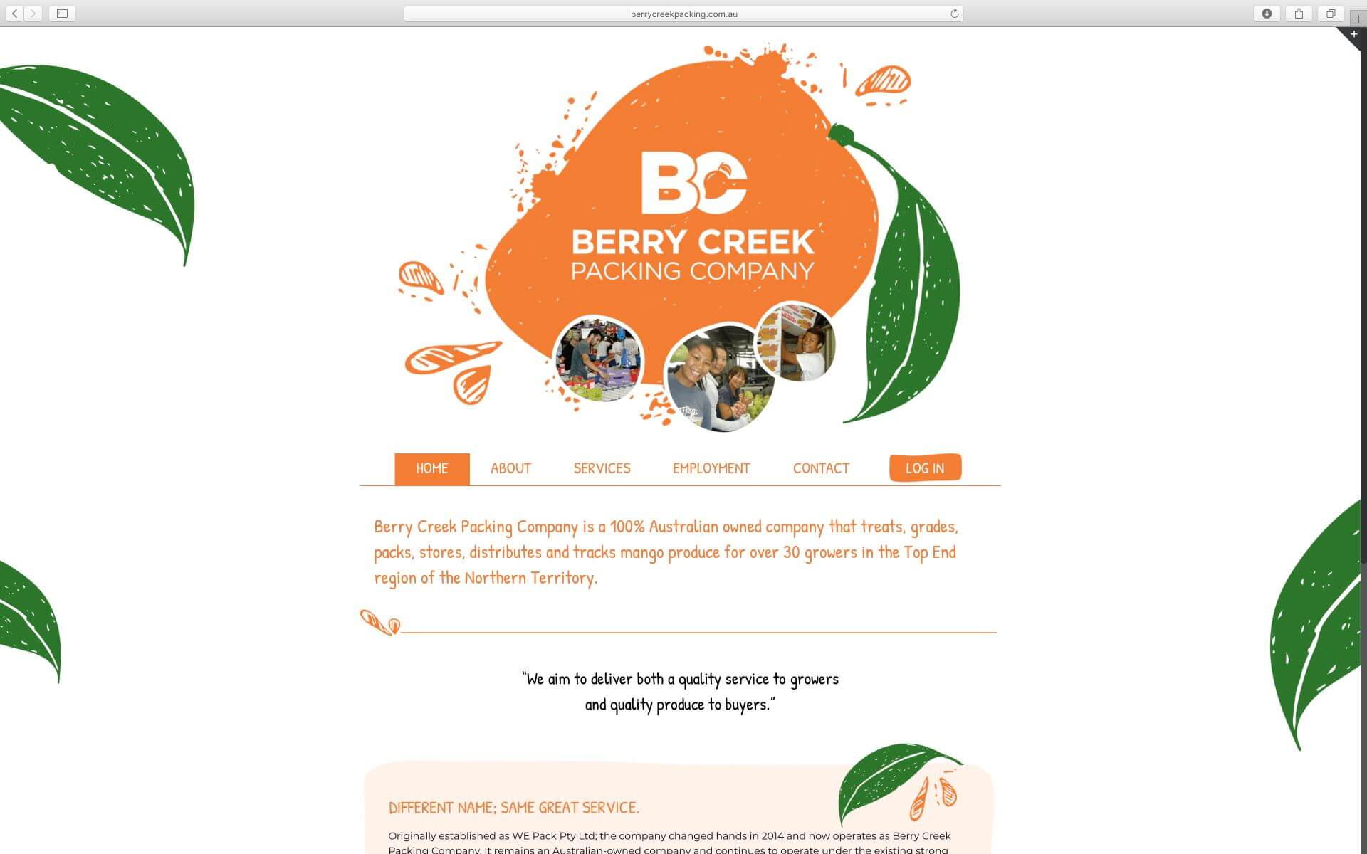 Berry Creek Packing Website