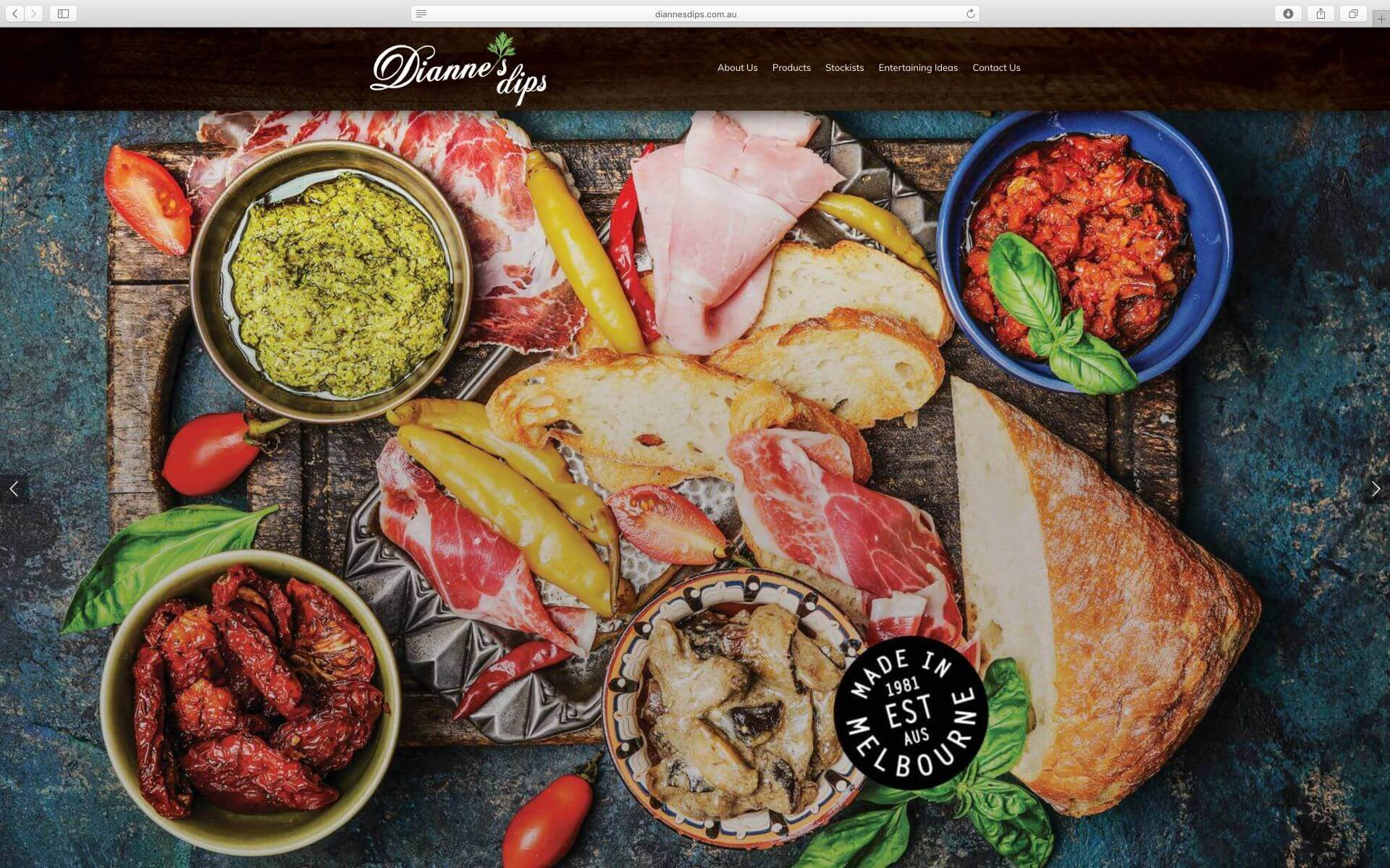 Dianne's Dips Website
