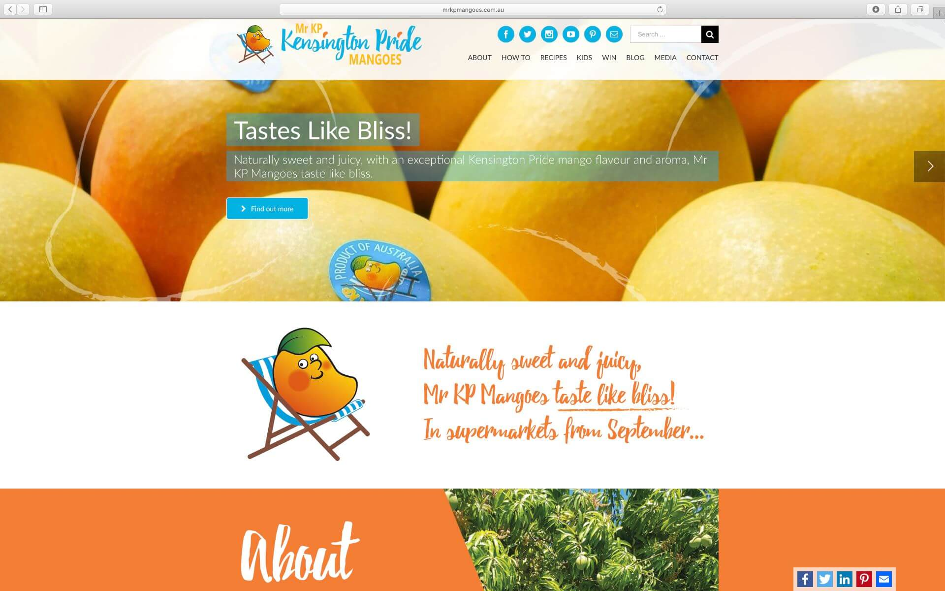 Mr KP Mangoes website