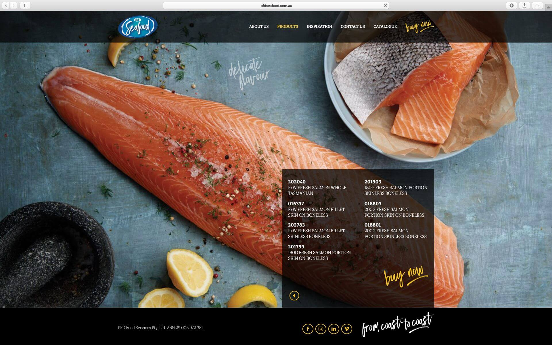 PFD Seafood Website