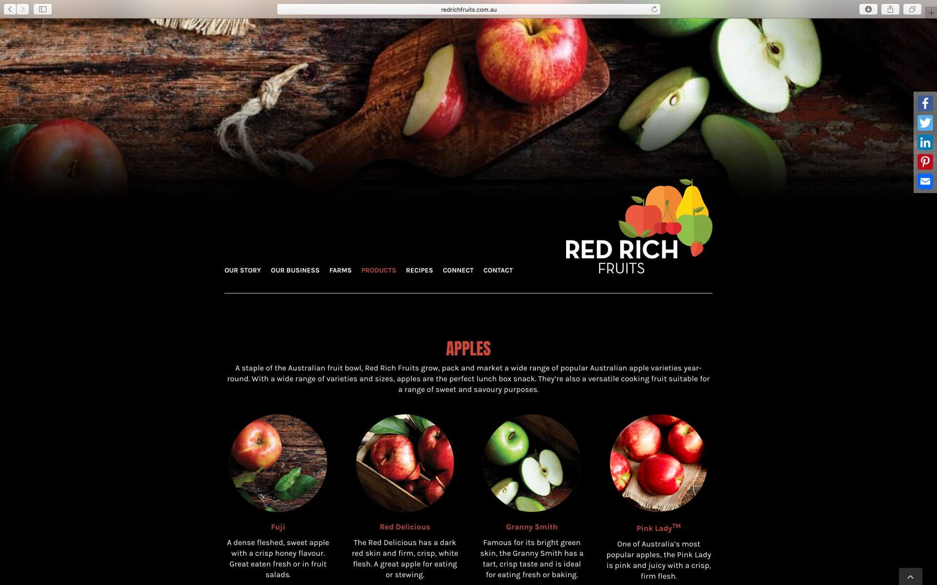 Red Rich Fruits Website