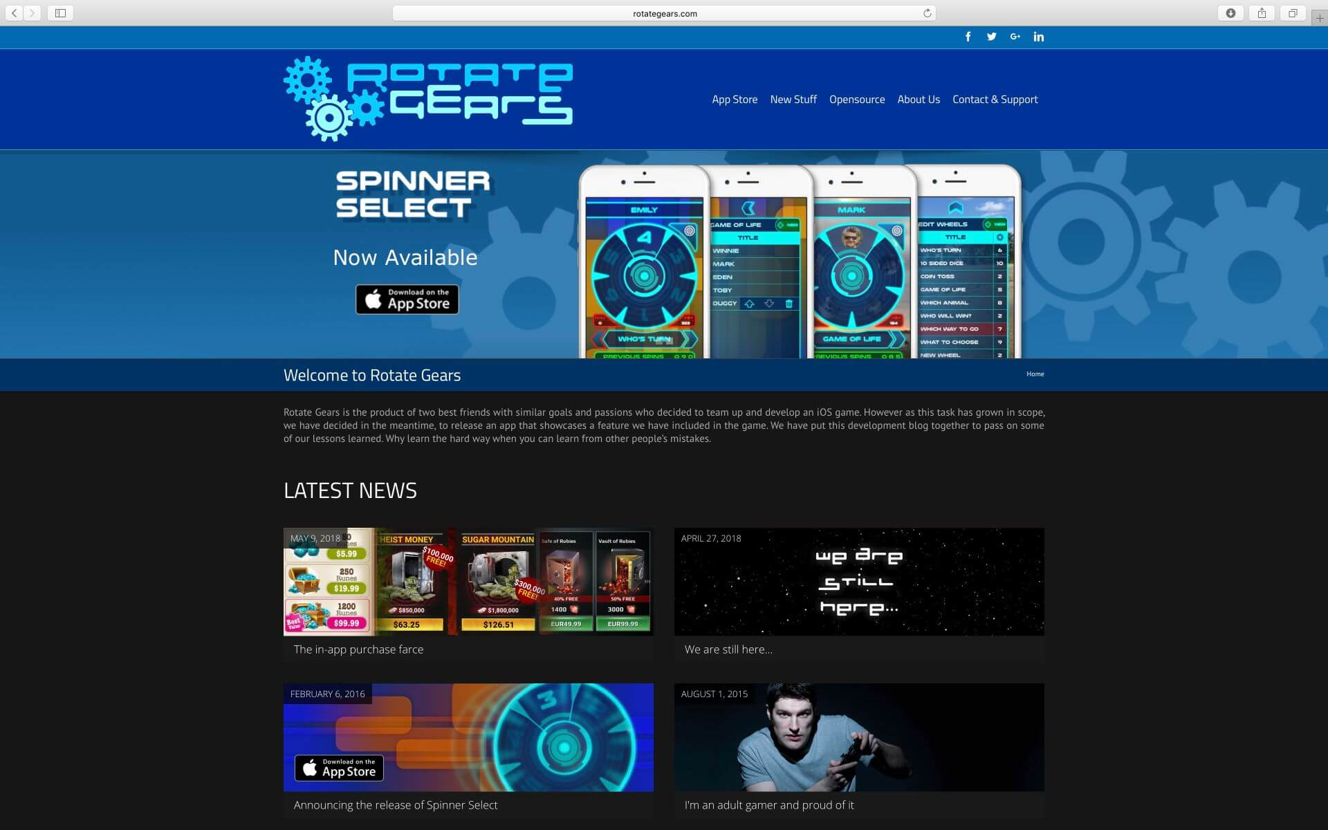 Rotate Gears Website
