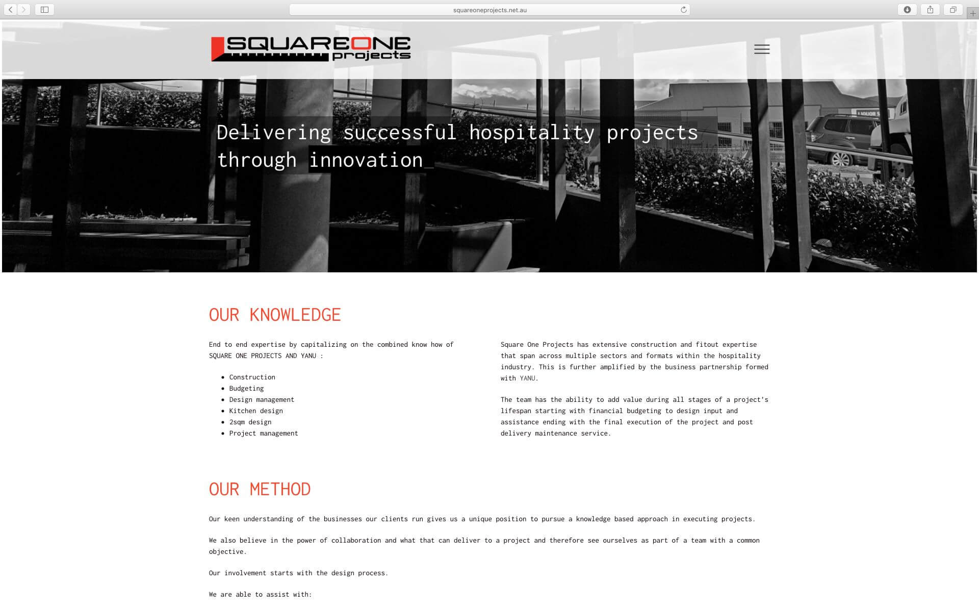 Square One Projects Website