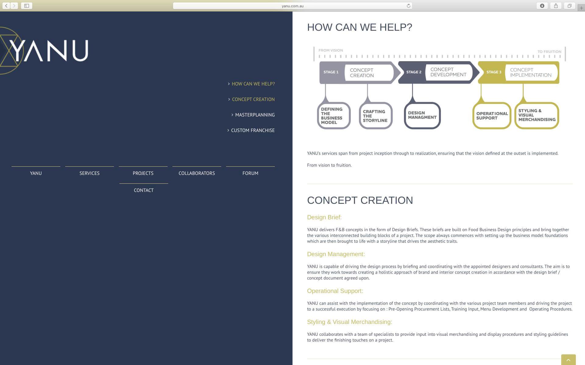 YANU Website